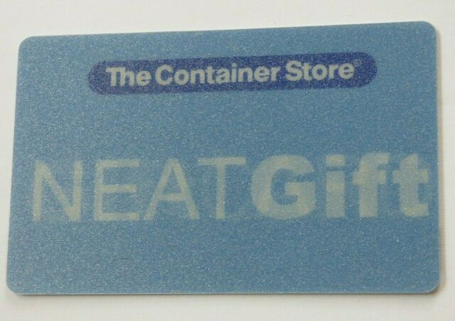 Container Store Gift Card LENTICULAR / Neat Gift - 2004 - No Value - I Combine