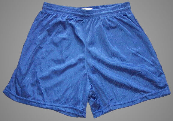 Blue Nylon Mini Mesh Shorts by Soffe - Men's XL