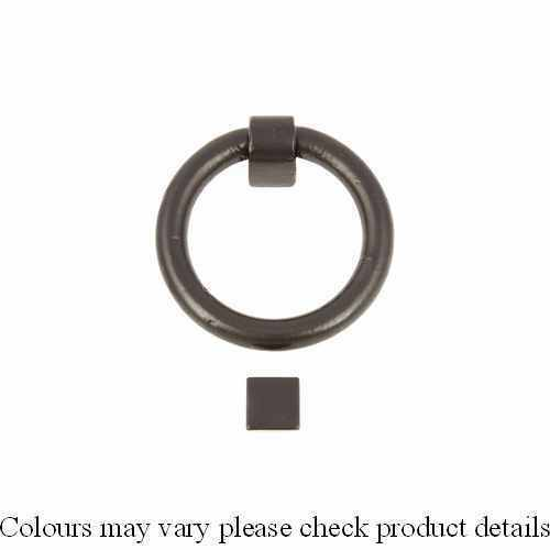 Hafele Heurtoir anneau fonte malléable Lisse Noir enduit de poudre