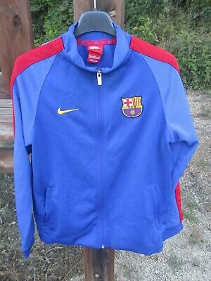 Veste FC BARCELONA BARCELONE Barça NIKE felpa football training jacket 13 15 ans   eBay
