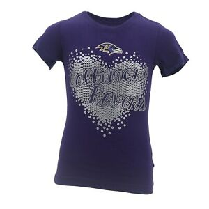 Baltimore-Ravens-Official-NFL-Apparel-Kids-Youth-Girls-Size-T-Shirt-New-Tags