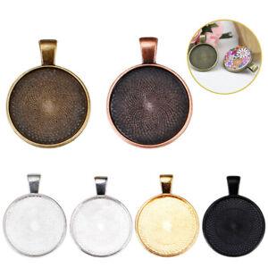 "Cabochon Settings Findings 5 Pendant Trays Blanks Bronze Bezel fits 25mm 1/"""