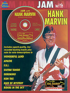 Learn-to-Play-Jam-With-HANK-MARVIN-Guitar-TAB-Sheet-Music-Book-CD-APACHE-FBI-NEW