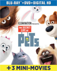 The-Secret-Life-Of-Pets-New-Blu-ray-With-DVD-UV-HD-Digital-Copy-2-Pack-Di