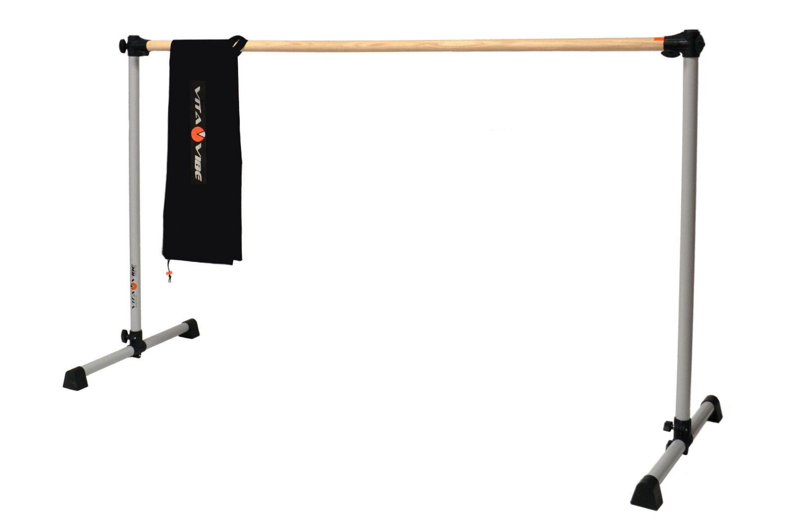 Ballet Barre BNB5-W Freestanding 5ft Single Wood Bar w/Bag-Stretch/Dance Bar-NEW