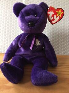 90f9a8e8a48 Ty Beanie Baby Babies PRINCESS Diana the Bear (1997 Release) MWMT ...