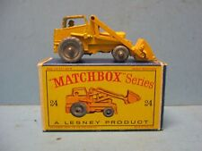 Matchbox #24 Hydraulic Excavator Original Early Box 1960s Gray Metal Wheels