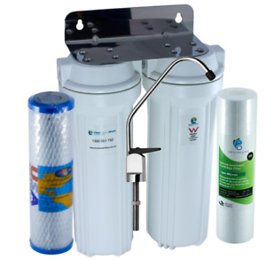Premium Twin Undersink Water Filter System with Omnipure USA Carbon Cartridge!