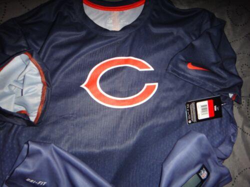 NIKE CHICAGO BEARS NFL TEAM APPAREL DRI FIT SHIRT SIZE 2XL XL L M MEN NWT $45.00