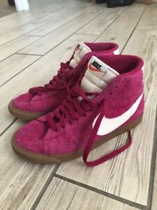 brand new fa122 3a00b Details about Womens Nike Blazers High Tops Suede Size Uk 4 pink! Retro  Vintage