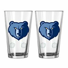 Memphis Grizzlies NBA 16 oz 2-Tone Pint Glass Set