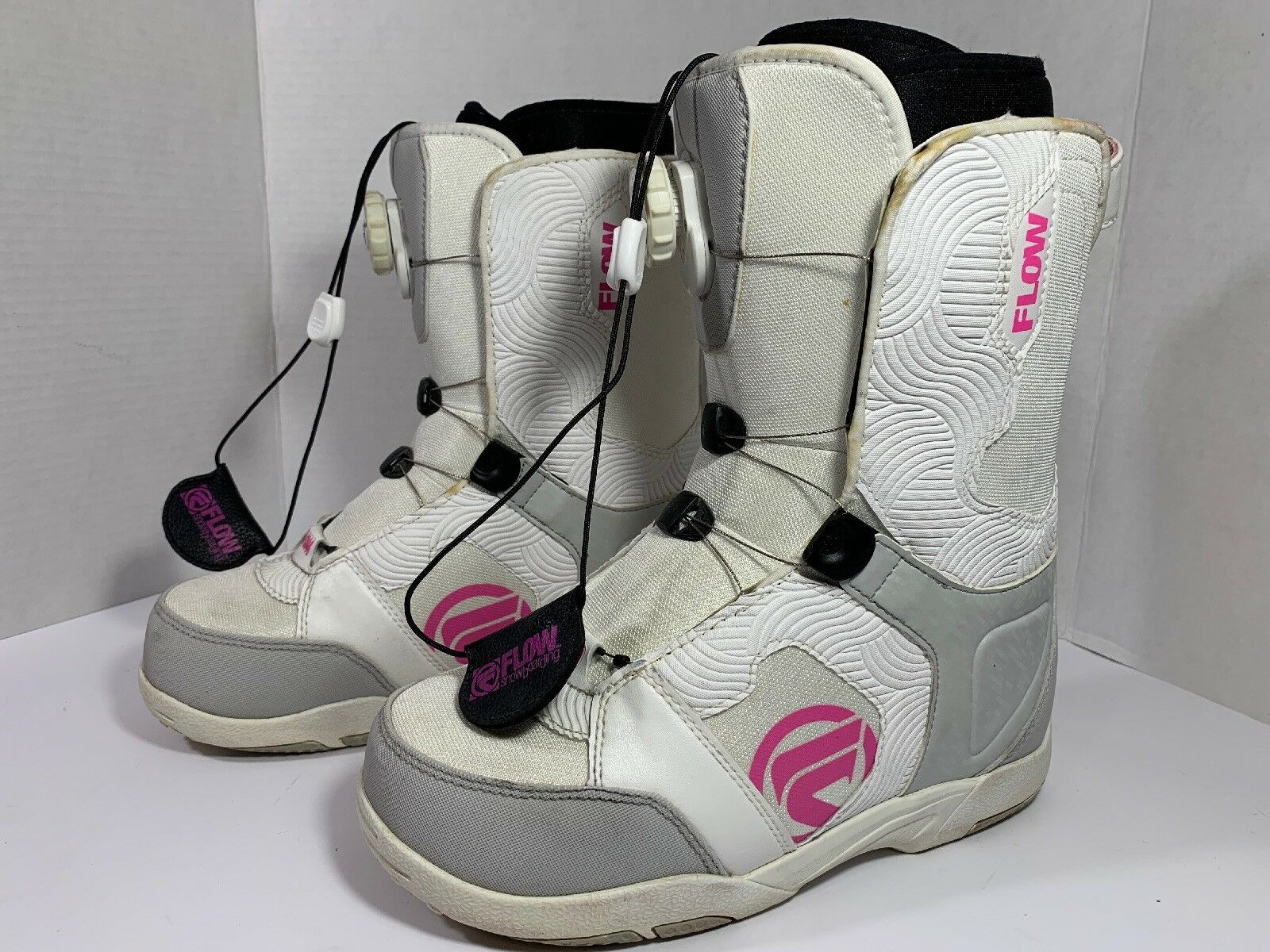 Flow LOTUS  WOMEN'S Boa Snowboard Boots WHITE with Pink SZ US 7 Fast Ship  (CL59)  the latest