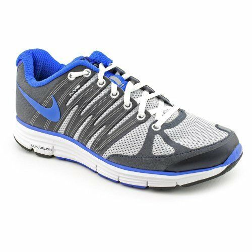 Nike LunarElite +2 Men's Running shoes 429784-061 Wolf Grey bluee Obsidian White