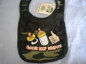 WOODLAND-CAMP-034-CHOOSE-YOUR-WEAPON-034-BABY-BIB