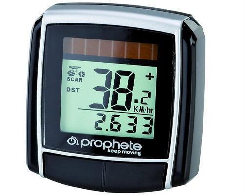 Prophete Fahrradcomputer Fahrradtacho Fahrrad Tacho Solar mit 13 Funktionen 0512
