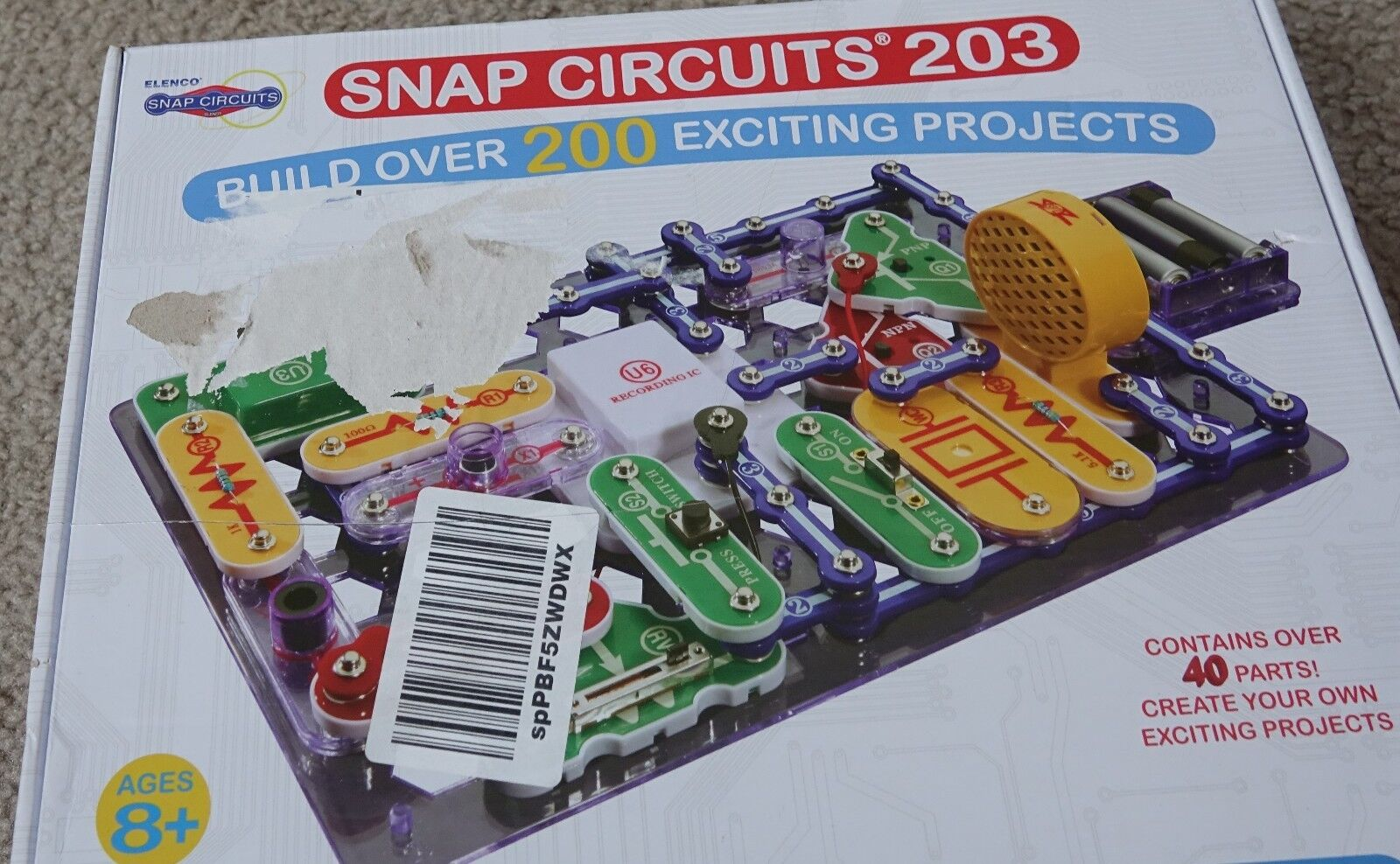 Snap Circuits 203 Electronics Exploration Kit Over 200 Stem Elenco Electrical Project Kid Educational Projects 4 Color Manual 42 Modules Unlimited Fun