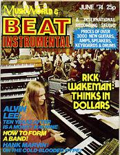 BEAT INSTRUMENTAL Magazine No 133 June 1974 Hank Marvin Alvin Lee Rick Wakeman