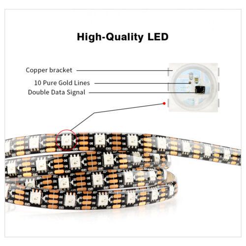 WS2813 WS2815 5V//12V LED strip Dual-Signal 5050 RGB Individual Addressable 5M