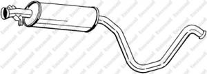 Mittelschalldämpfer für Abgasanlage BOSAL 281-831