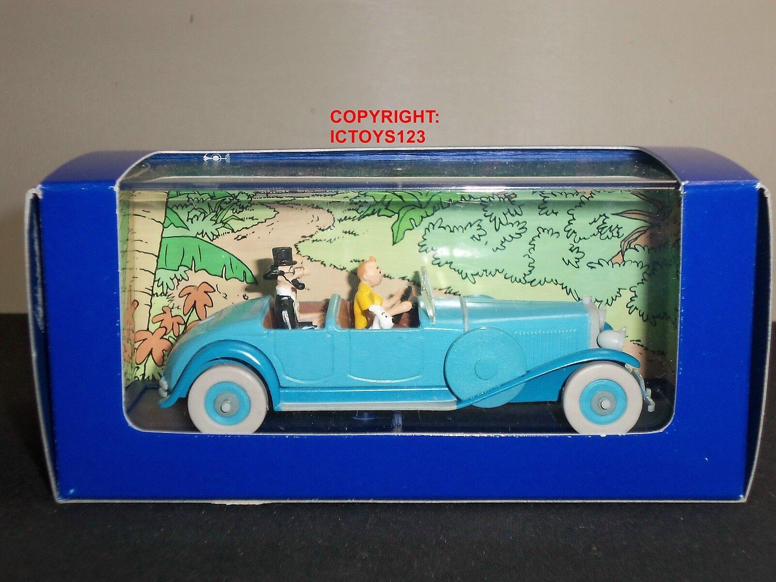 TINTIN NO.5 LES CIGARES DU PHARAON COMIC blueE LINCOLN TORPEDO GRAND SPORTS CAR