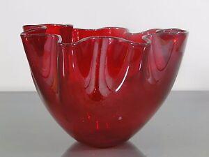Vase-Fazzoletto-Venini-Murano-Fulvio-Bianconi-Glas-bezeichnet-Entwurf-um1950