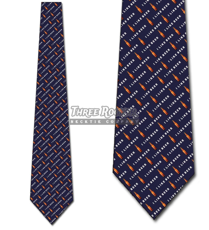 Beer Ties Alcohol Neckties Pouring Beer tie Mens Necktie