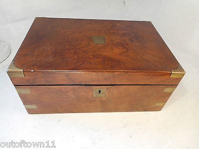 Antique Walnut Writing Slope  Box , Secret Drawers   ref 2668