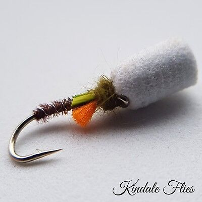 FLY FISHING SALTWATER MUSKY STREAMER bf2 2 LG RED//BLACK BAITFISH FLIES PIKE