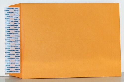20 Kwik Tak® 10 x 13 Inch Catalog Style Golden Kraft Peel n stick Envelopes