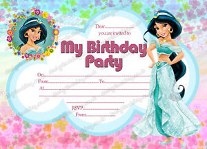 Image Is Loading Princess Jasmine Invitation Disney Jasmine Invite Princess  Jasmine