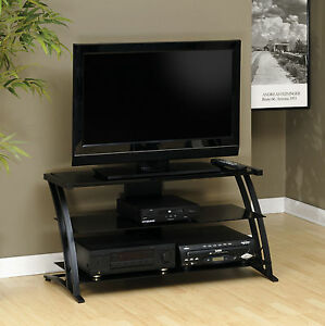 Image Is Loading Sauder Deco Glass Top 39 In TV Stand