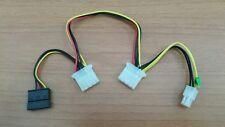 Cavo Alimentazione ATX 12V 4 Pin Maschio / Molex 2x M / SATA Adattatore PC
