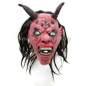 Skull Mask Indian Cosplay Latex Full Face Horror Adult Halloween Party Cowboy