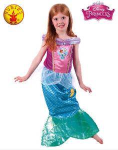 Girls Deluxe Mermaid Princess Ariel Book Week Fancy Dress Costume Child Outfit