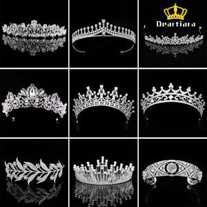 Deartiara-Silver-Crystal-Wedding-Tiara-Crown-Bride-Bridesmaid-Hair-Jewelry