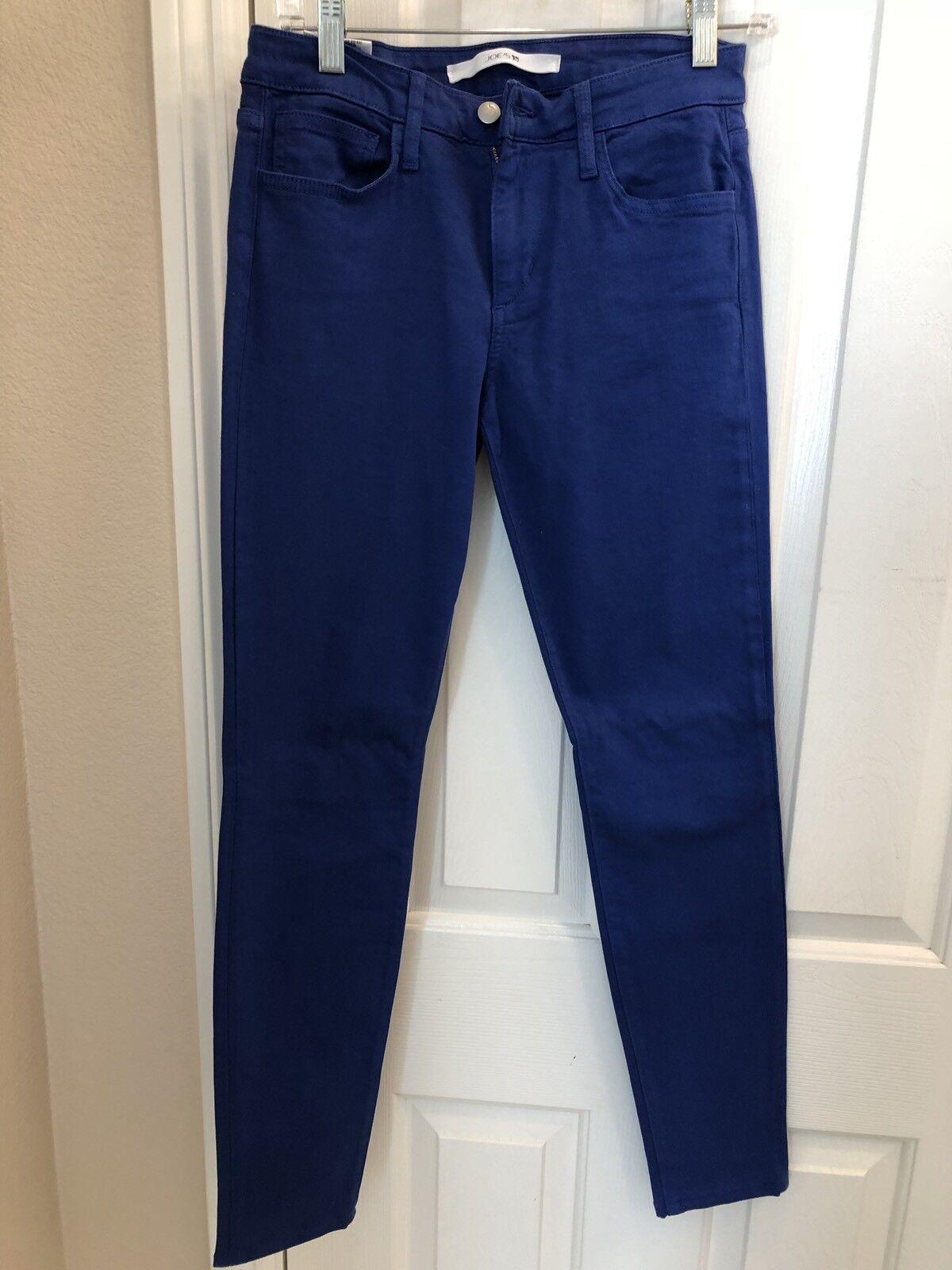 NWOT   Women's JOE'S JEANS Royal bluee color - The Skinny - Size 28