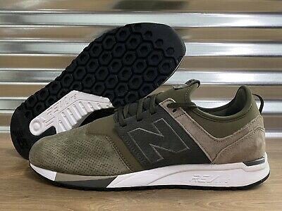 New Balance 247 Luxe Suede Shoes Olive