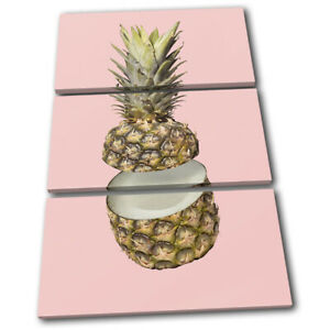 Pineapple-Coconut-concept-Food-Kitchen-TREBLE-CANVAS-WALL-ART-Picture-Print