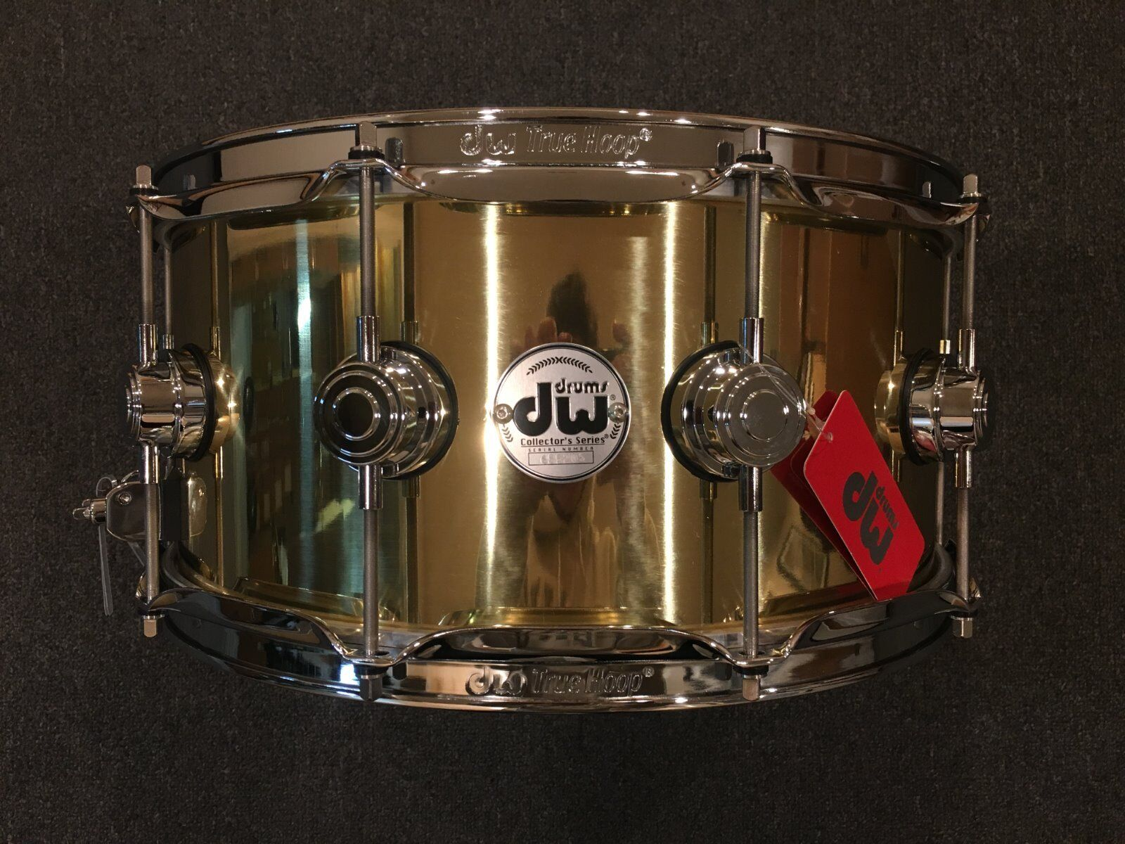 DW Collector's Series 6.5x14 Polished Bell Brass Snare Drum w Chrome Hardware