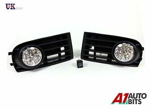 LED-FOG-DRL-DAYTIME-RUNNING-LIGHTS-LAMPS-GRILLE-SET-FOR-VW-GOLF-MK5-5-2003-2009