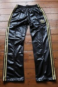 Image is loading Adidas-Chile-62-Tracksuit-Pants-Shiny-Black-with-