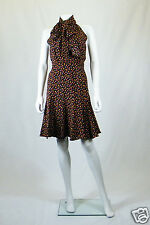 *PAUL & JOE* PARIS DOMINO POLKA DOT PUSSY BOW DRESS (UK 8)