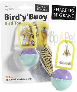 BIRD-CAGE-TOY-WITH-BELL-amp-BEADS-SHARPLES-N-GRANT-BUDGIES-PARROT-COCKATIEL-PET