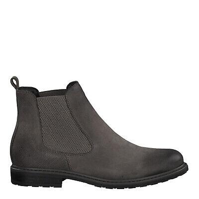 Tamaris 1 1 25056 23 232 Schuhe Damen Leder Stiefelette Chelsea Boots Belin grau | eBay