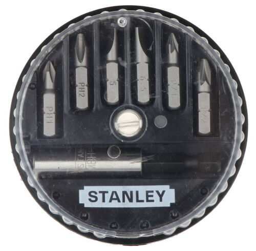 Stanley 1-68-737 Insert 7 Bit Set Phillips Slotted Pozidriv  NEW *Free Post*