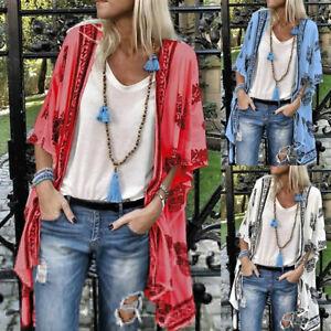 Women-Ladies-Floral-Beach-Kimono-Blouse-Chiffon-Cardigan-Shawl-Cover-up-Tops-NEW