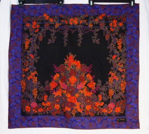 Jim Thompson Thai Silk Floral Vine Lattice Blue Br