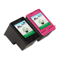 2 Pack HP 61XL Ink Cartridge CH563WN CH564WN Deskjet 1055 Deskjet 2050 Printer