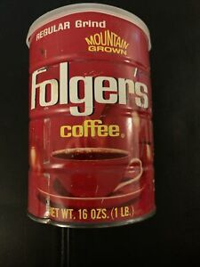 Vintage Folger's Coffee Can