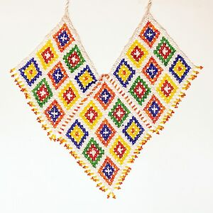 Belly-Dance-ATS-tribal-Beaded-NECKLACE-Afghani-Kuchi-806h1
